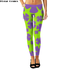 Harajuku Style Patrick Star Women 3d Weeds Leaf Sunflower Leggings Womens Plus size Workout Slim Pants Fitness Legging