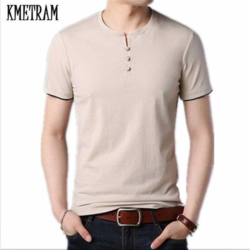 KMETRAM 2019 mode été vêtements de sport élastique O cou hommes T Shirt hommes Cool T-shirt Fitness décontracté mâle T-shirt 3XL HH833