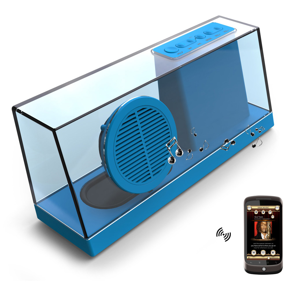 BTS 23 Under Cabinet Bluetooth Kitchen Stereo Speaker With LED ...
