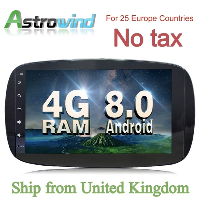 9 Inch Car Gps Navigation System Stereo Media Auto Radio For Mercedes Benz Smart Fortwo C453 A453 W453 2017 2016 2018 Jbl