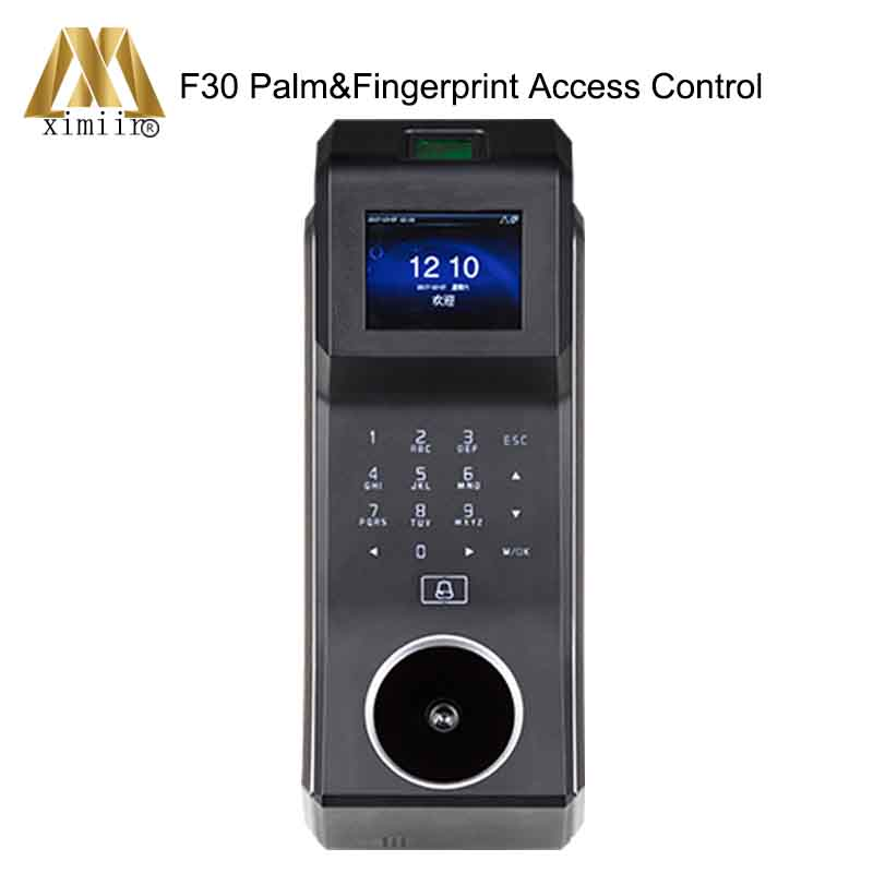 Palm Access Control System With Time Attendance Function Biomtric Fingerprint Access Controller ZK F30 Door Access Control
