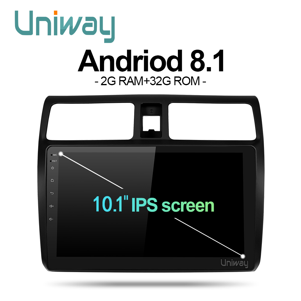uniway MYY1081 android 8 1 car dvd for suzuki Swift 2005 2016 multimedia car radio stereo