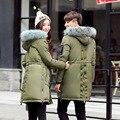 Homens Jaqueta de Inverno 2017 Nova Coleção Bio Produção conjunta Para Baixo Casaco de Algodão Dos Homens de Comprimento Médio Com Capuz Quente Jaqueta Parka homens