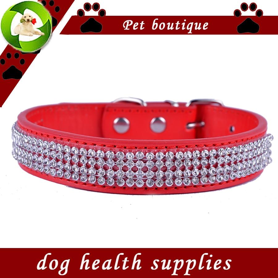 Divat strasszos kutya-gallér színes pu bőr gallér kutyák kis - Pet termékek - Fénykép 3