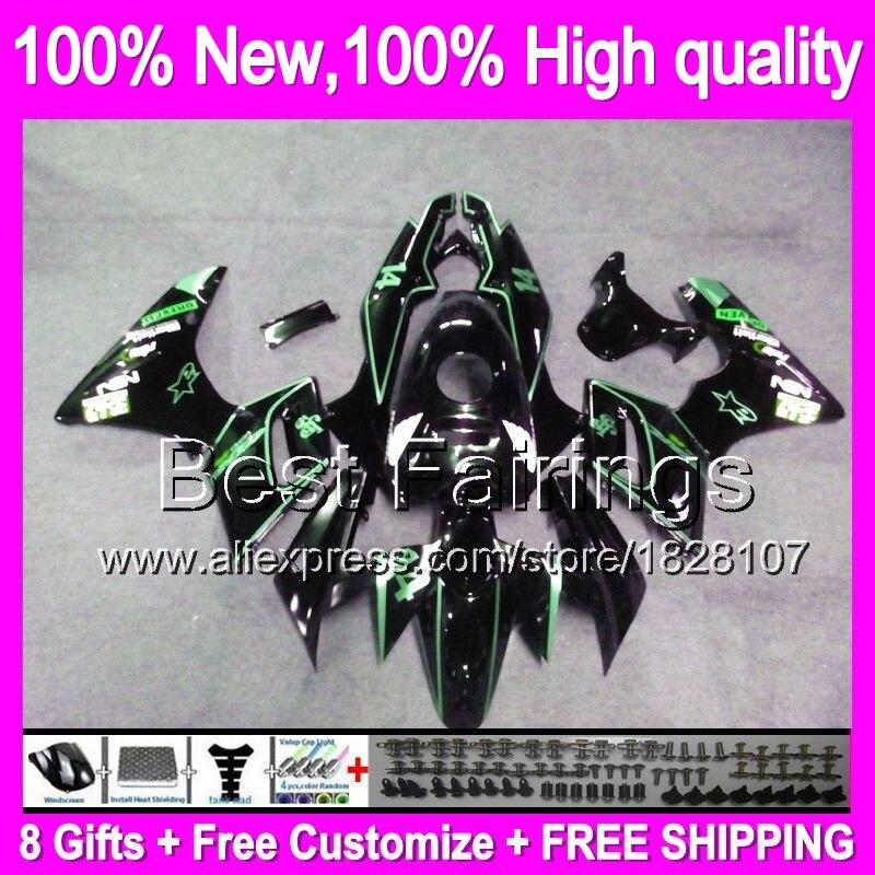 US $422 75 5% OFF|Fairing Green line For HONDA CBR125R 02 06 CBR125 R 02 03  04 05 06 10B29 Green black CBR 125R 2002 2003 2004 2005 2006 +decal-in