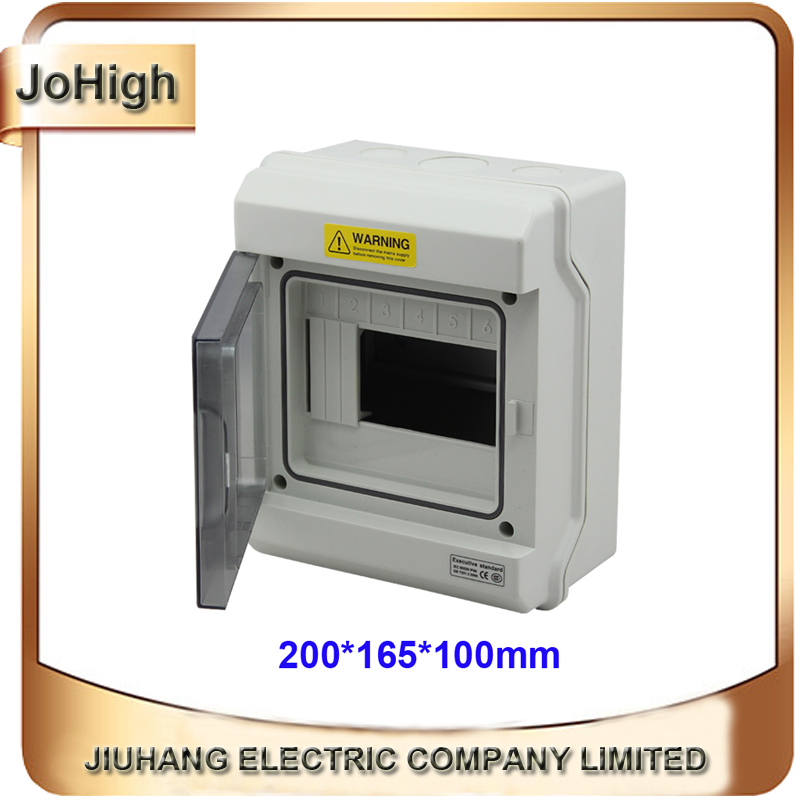 цена на Free Shipping Top Quality Best PC Material IP66 Waterproof Outdoor Distribution Box 6 Way Distribution Enclosure