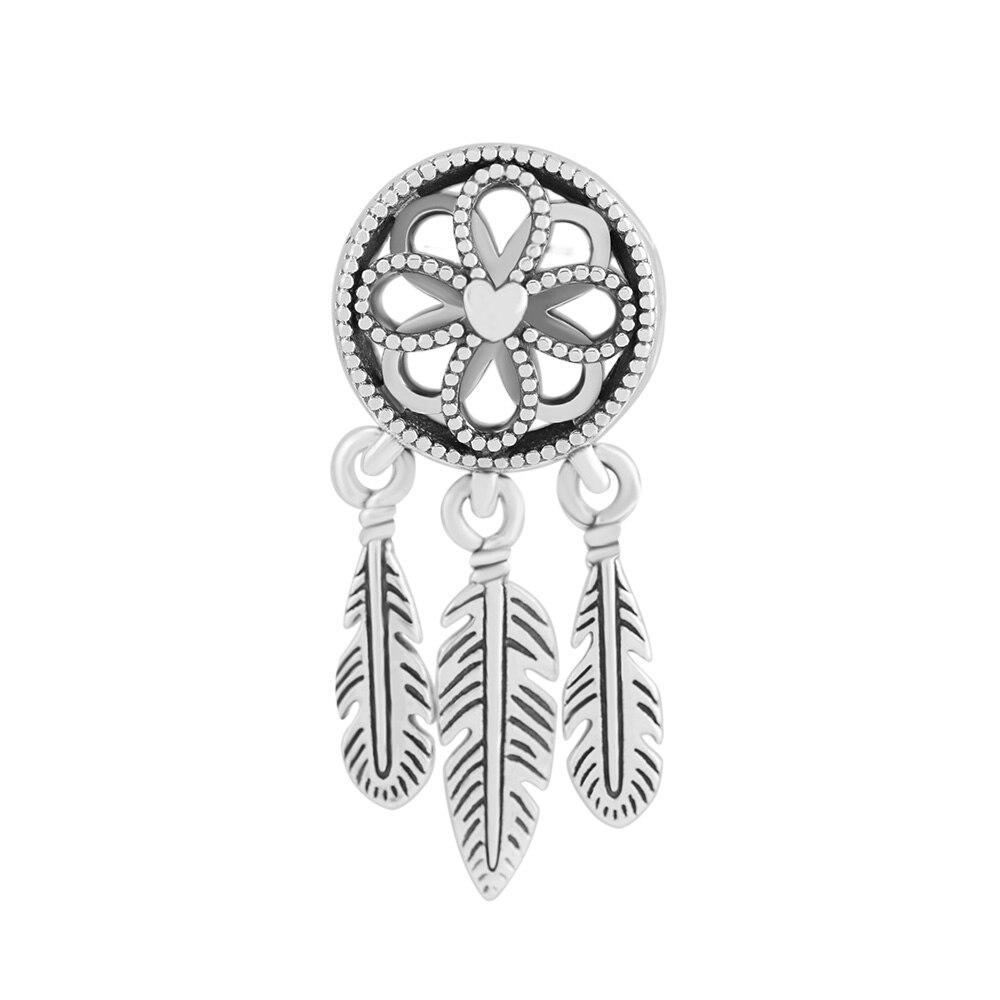 Fit Pandora Charms Echt 925 Sterling Silber Perlen für Schmuck Machen Spirituelle Dream Catcher Baumeln Charme DIY Armband Schmuck