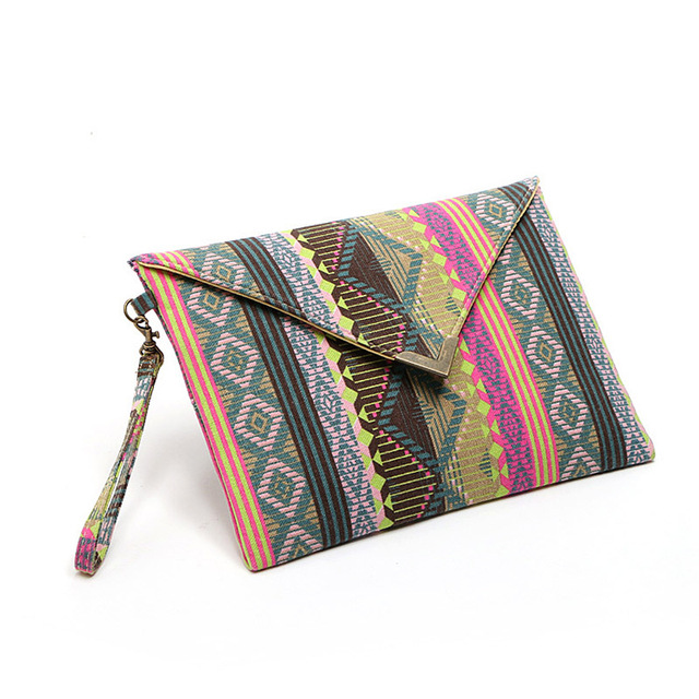db4e2b9c95b4 New National Geometric Canvas Bags Envelopes Clutch Small Ladies Designer  Handbags Women Phone Package Purses LT88