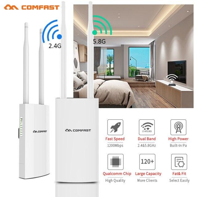 Comfast cf 1200Mbps CF EW72 Dual Band 5G Esterno Ad Alta Potenza AP Copertura Omnidirezionale Punto di Accesso Wifi Stazione Base Antenna AP