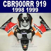 Full Parts Fairing kit For honda CBR900 RR 919 1998 1999 ( Fairings ) cbr 900rr 98 / 99 Orange repsol CN15