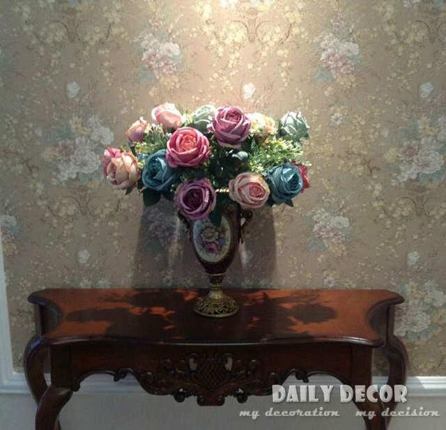 Online Shop Classical European Oil Painting Artificial Rose Silk