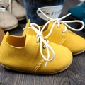 New handmade Genuine Leather baby shoes 13-16cm lace-up Baby Moccasins First Walker Bebe newborn Soft bottom shoes