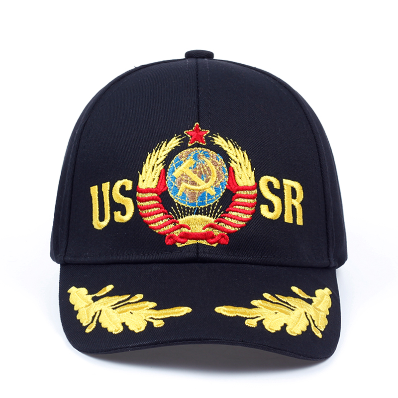 2018 brand USSR Baseball Cap Unisex embroidery Russian CCCP 100% COTTON fashion adjustable high quality cap hats