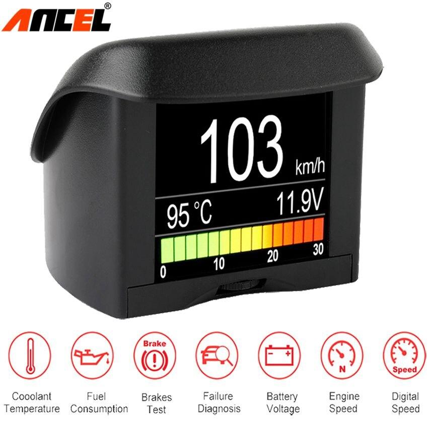 Ancel A202 Auto Bordcomputer Kraftstoffverbrauch OBD2 Speed Gauge Thermometer Spannungs Wassertemperatur Meter Digitalanzeige