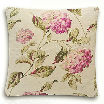 new shabby chic cushion cover laura ashley hydrangea pink natural colour floral fabric cushion cover pillow case home decor