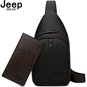 JEEP BULUO Brand Fashion Casual Men's Bags Crossbody Travel Bag Men Sling Bags High Quality Leather Chest Bag For Man jeep buluo men crossbody bags fashion high quality leather chest bag for young man casual male sling bags travel shoulder bag