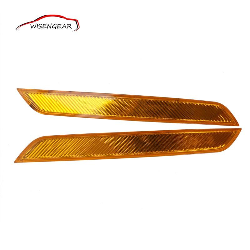 Переднего бампера автомобиля сигнальная лампа тормозной чистый янтарно-желтый Светоотражающая лента маркер отражатель для BMW Х6 е71 Е72 xDrive35i с/5