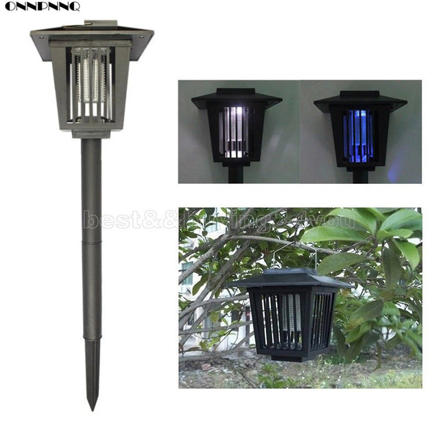 ONNPNNQ Eco-Friendly Solar Outdoor Mosquito LED Insect Pest Bug Killer w/Pin Lawn Light