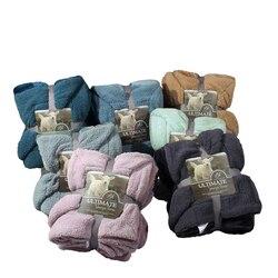 Luxe Grote Warme Dikke Sherpa Gooi Deken Coverlet Omkeerbare Fuzzy Fluffy Microfiber Alle Seizoen Plaid voor Bed of Bank