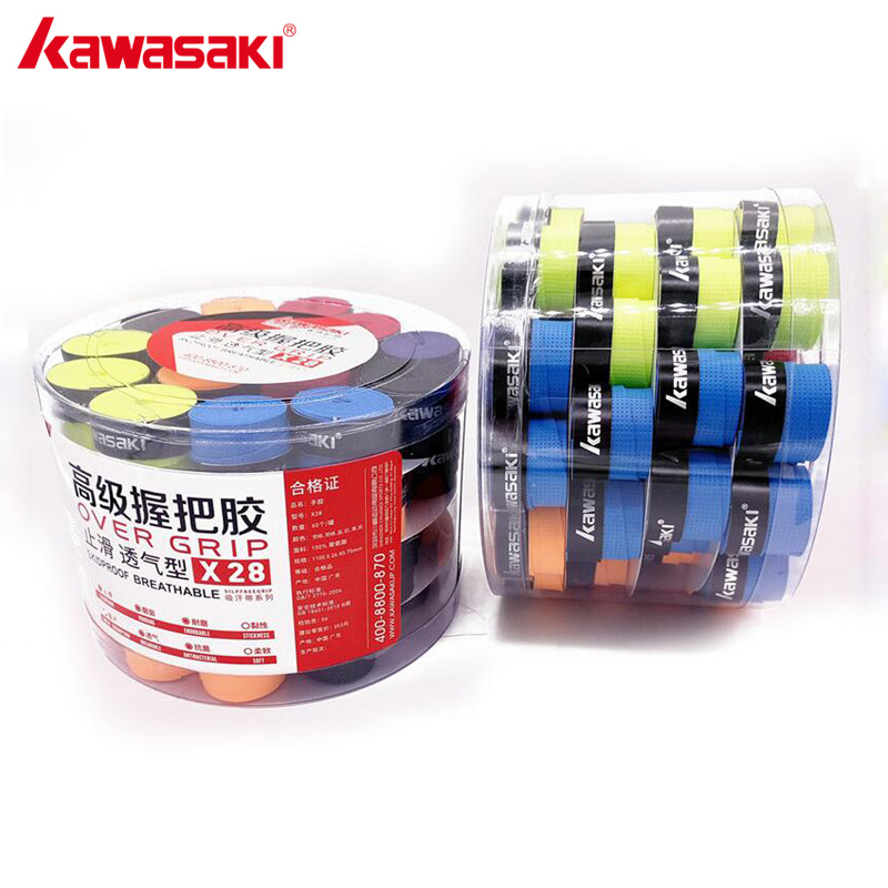 60Pcs lot Kawasaki Anti slip Tennis Overgrips Tape Sweatband Badminton Grips Over Grip Racquet Accessories X28