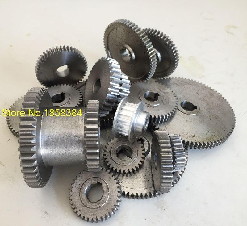 17pcs//set mini lathe gears Metal Cutting Machine gears lathe gears