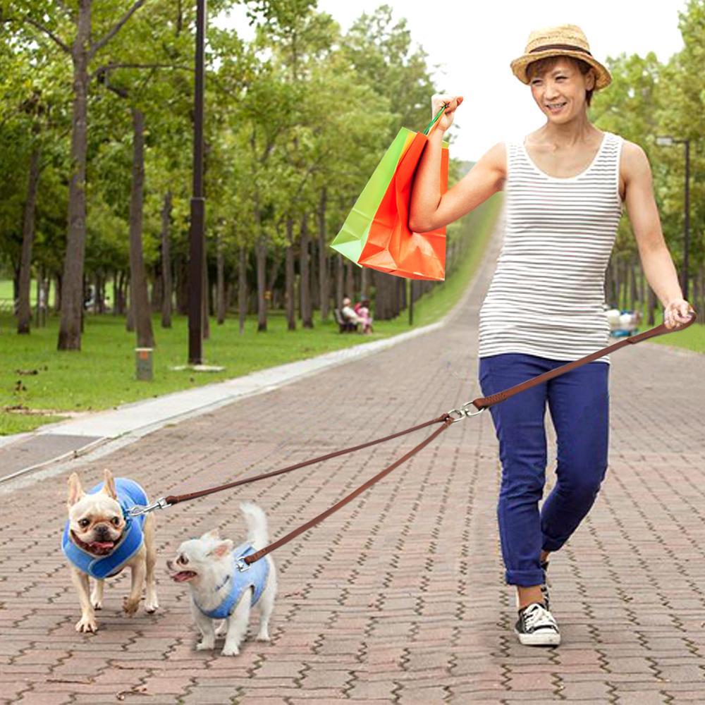 tobeDRI Doppelte Hundeleinenkupplung 2 gepolsterte Griffe verstellbar von 45,7 bis 61 cm robuste Dual-Hundeleine f/ür 2 Hunde f/ür gro/ße mittelgro/ße und kleine Hunde