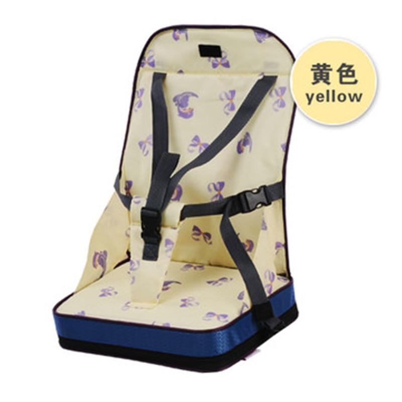 Портативное сиденье-бустер, обеденный коврик, детское кресло, сиденье для младенцев, безопасный дорожный стульчик для кормления, для малышей, для покупок, сиденье, помощник, 3 цвета - Цвет: yellow