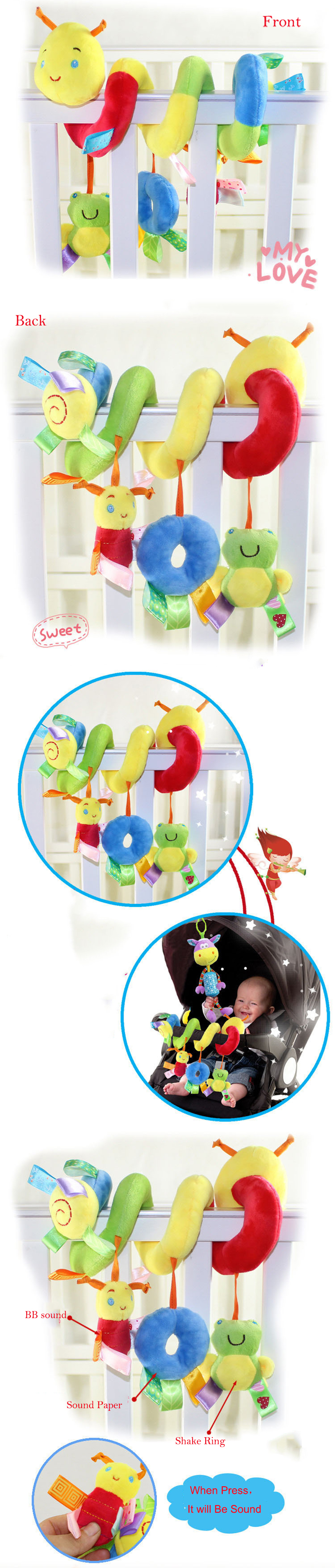 Spiral Stroller toy rattle baby toy 3 1