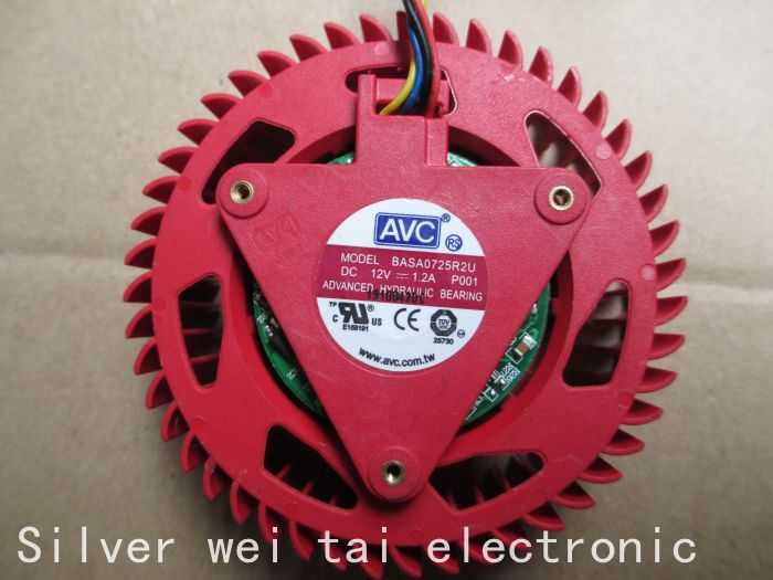 AVC BASA0725R2U 12 V 75mm Grafikkarte Fan für Ersatz 37mm 4Pin ATI...