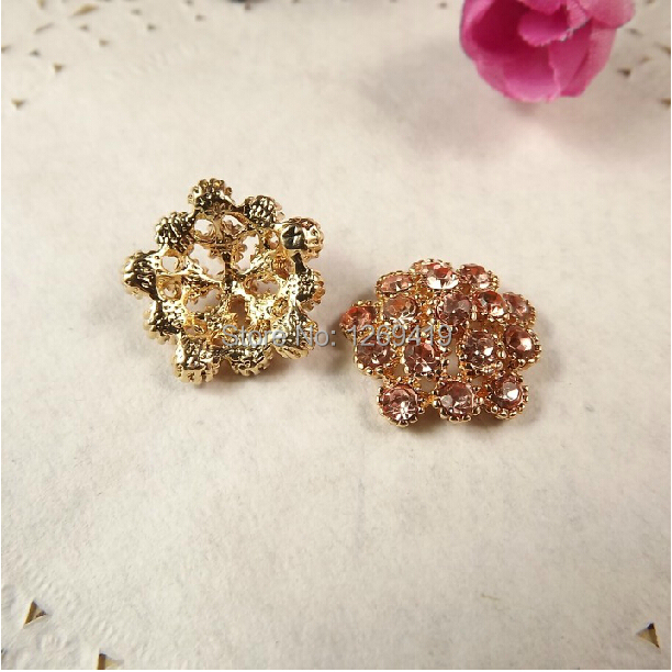 2CM 20PCS Polygons Alloy Diamond Rhinestone Buttons 47913c1ab56a