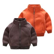 New Fashion Kids Boys Warm Jacket Leisure Jacket Plus Velvet Winter Children's Wear Cotton Shirt Late Autumn Warm Outwear