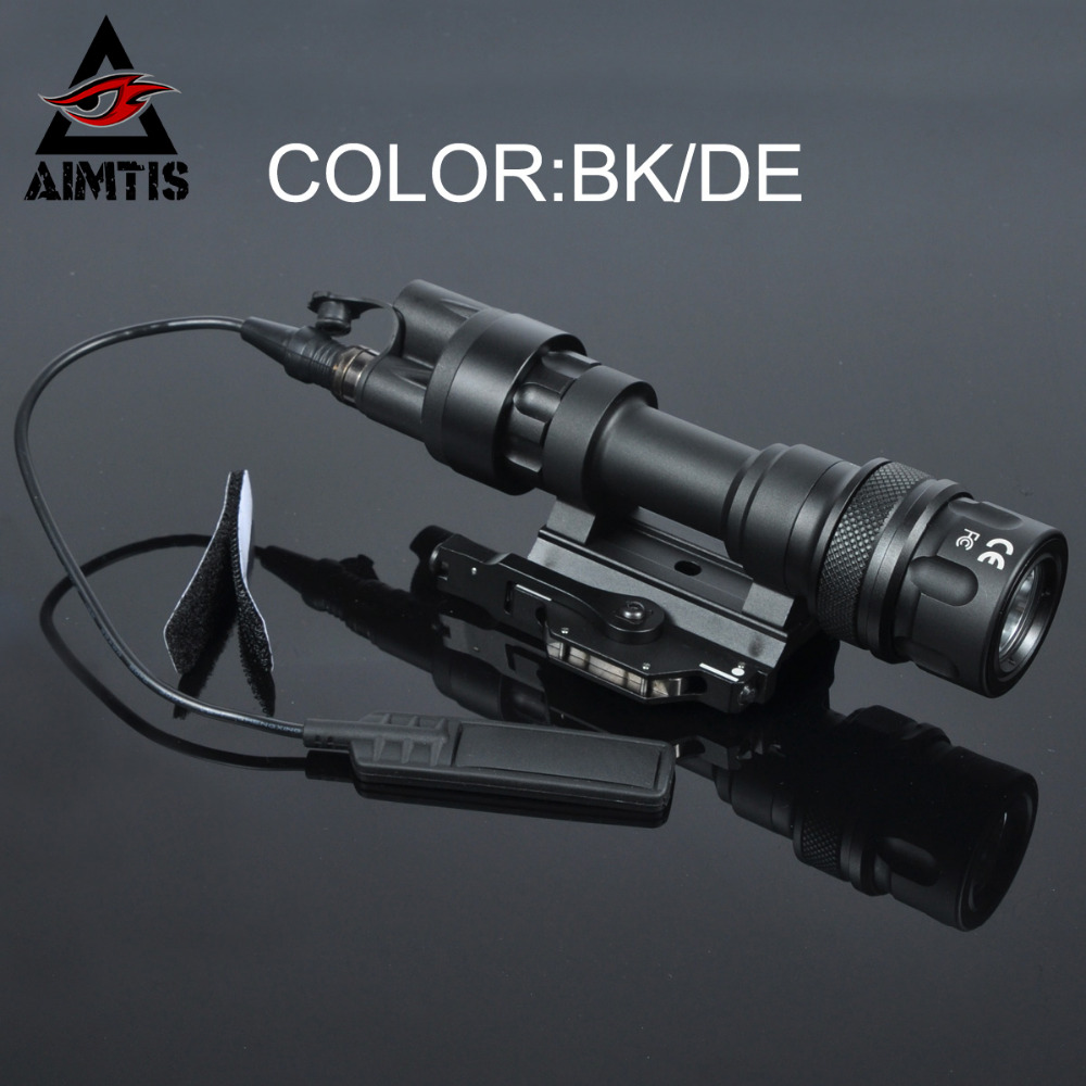 AIMTIS M952 Tactical IR Light Picatinny QD Mount LED Weapon Light Hunting Scout Flashlight Constant Momentary White Output aimtis m300b mini scout light tactical rail light rifle hunting flashlight constant momentary output for 20mm picatinny rail