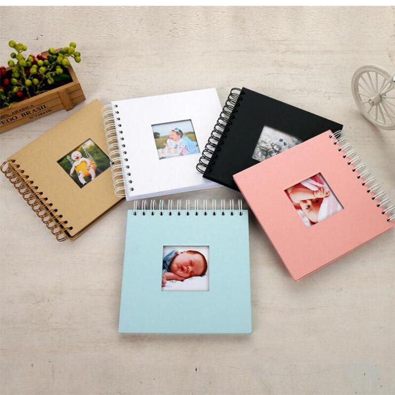 Álbum De fotos De papel De fotografía De bebé Scrapbooking Fotograf Albumu Diy gran álbum De fotos De los niños libro De la memoria Portafoto Plakboek