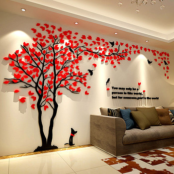 Large 3D DIY Acrylic Mirror Wall Stickers Art Mural Wall Sticker Home Decoration Decals Living Room Sofa TV Background Wallpaper