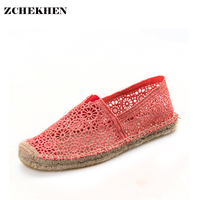 Summer Autumn Women Beach Casual Flat Shoes Hollow Out Loafers Fisherman Espadrilles Woman Lazy Hemp Rope