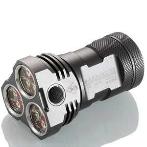 Image 4 - Manker MK34 Powerful Searchlight 8000LM 12x CREE XP G3 LED / 6500LM 12x Nichia 219C LED Flashlight Use 3x 18650 Battery