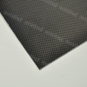 Image 4 - 1 pcs 0.3 มม. 400x500mm 400x250mm 500x500mm 100% คาร์บอนไฟเบอร์แผ่นแผ่น 3 K Plaine สานพื้นผิวมันวาว