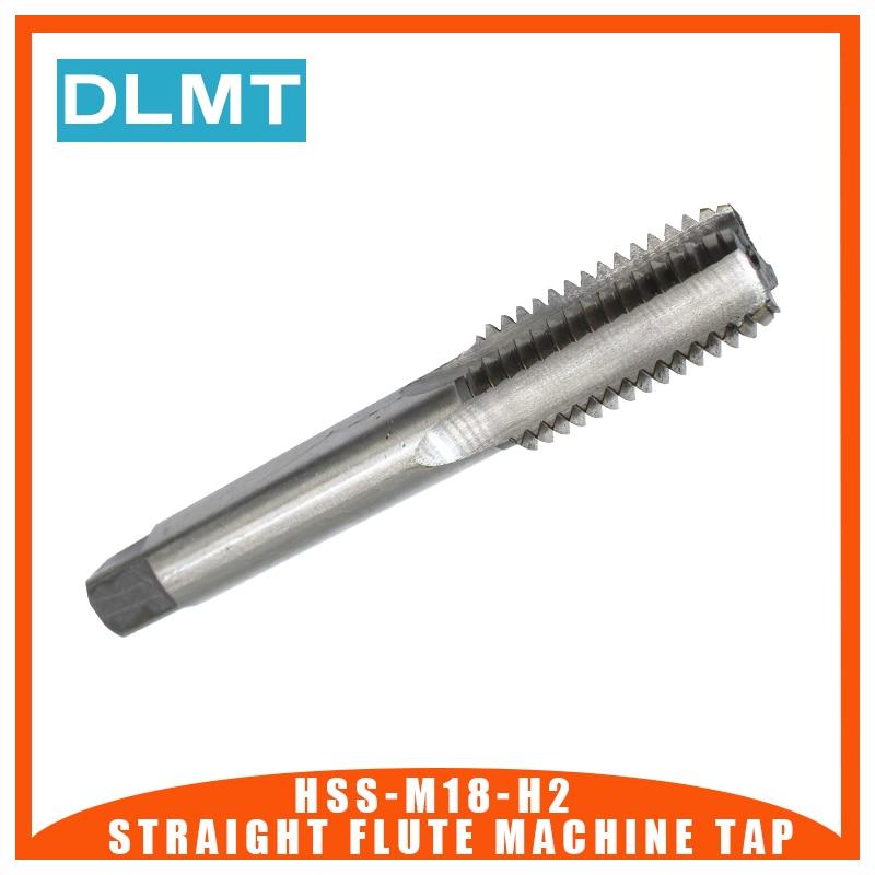 1pc Straight Flute Machine Tap Thread H2 M18x1 M18X1.5 M18X2 M18X2.5 Tap Bit High Spped Steel Threading Drill Bit Cutter Tool