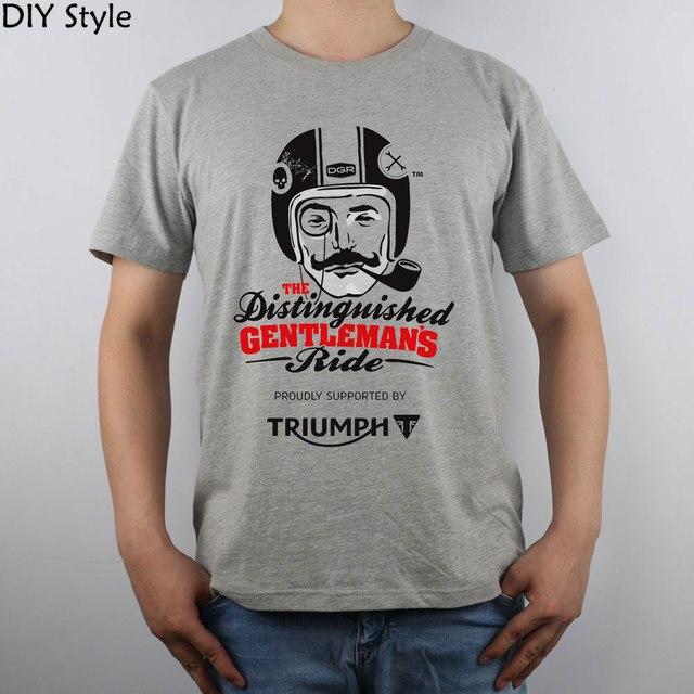Триумф Уважаемые Господа В Действии футболка Топ Чистого Хлопка Мужчины Майка Новый Дизайн Высокого Качества