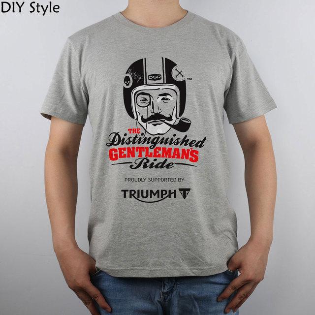 Triumph Senhores Distintos Em Ação Top t-shirt Camisa Dos Homens T Novo Design Puro Algodão de Alta Qualidade
