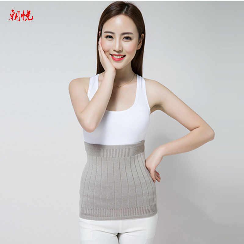 2019 새로운 스타일 탄성 더블 레이어 캐시미어 양모 허리 보호 벨트 솔리드 니트 따뜻한 복부 따뜻한 자궁