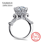 100% Pure 925 Sterling Silver Rings Set Real 1 Carat SONA CZ Diamant Engagement Ring Solid Silver Wedding Rings for Women SJ2902