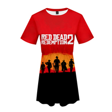 LUCKYFRIDAYF K-pop RED DEAD REDEMPTION 2 Womans Lovely dress New Cool print Fashion Women Print Sex Clothes