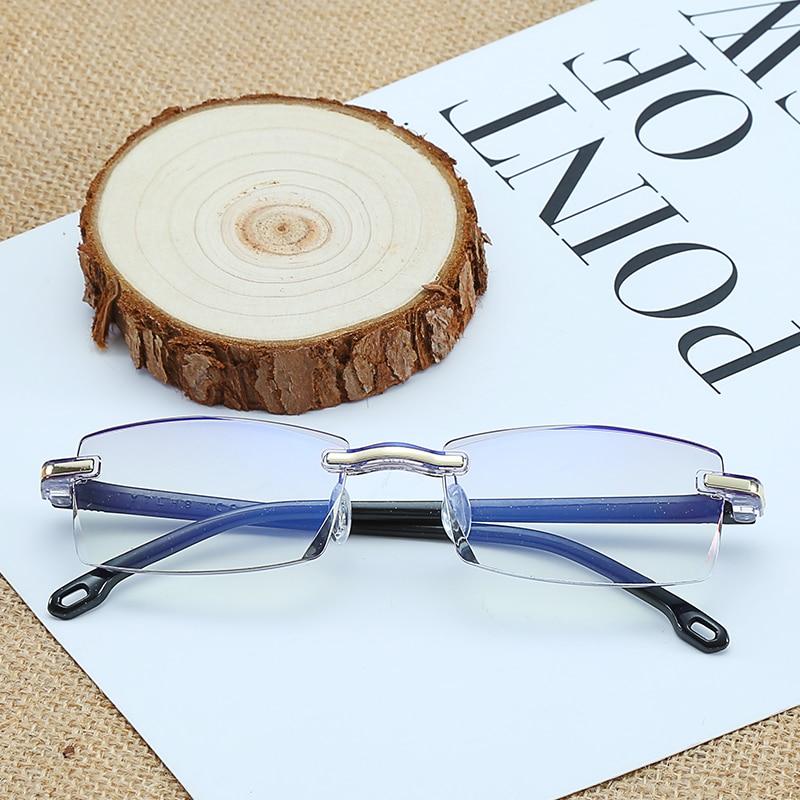 Women's Reading Glasses Apparel Accessories J N Anti Blue Light Reading Glasses Women Men Clear Eyeglasses Rimless Eyewear Computer Eye Glasses Presbyopia Xl006