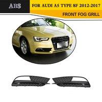 ABS Preto Luz de Nevoeiro Grade De Malha De Proteção Capas para Audi A5 8F Padrão Bumper só 2012 2017 light grill black grill mesh grill fog lights -