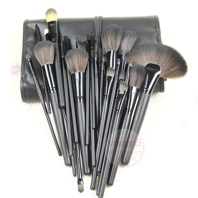 Nouveau Professionnel 24 Pcs Brosses de Maquillage Kit Cosmétique Maquillage Pinceaux de Noir