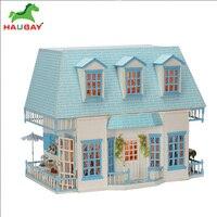 Аксессуары для кукольных домов DIY кукольная мебель миниатюрный коттедж модель игрушки для детей Birthady подарок Casa HAUBAY