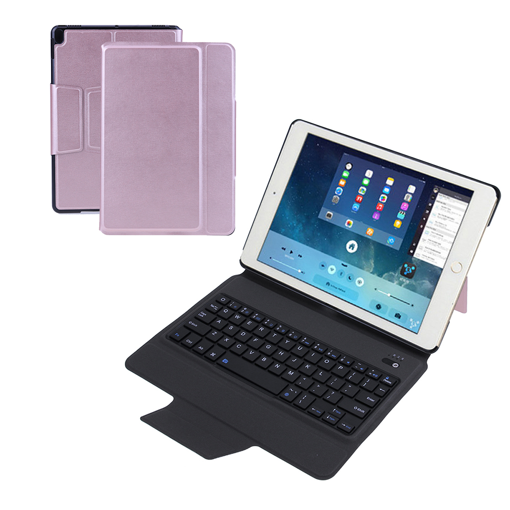 High Quality Removable Wireless Bluetooth Keyboard Case Cover Stand Keyboard + Leather Case + bracket for 10.5 iPad Pro for apple ipad 5 air removable pu leather case stand cover wireless bluetooth keyboard usb cable for ipad 6 air2 pro 9 7