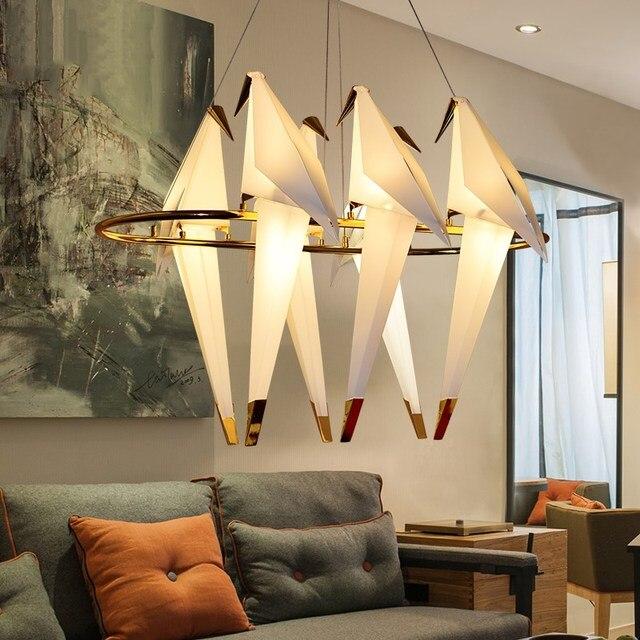 Moderne Nordic Weiß Origami LED Pendelleuchten wohnzimmer Kreative ...