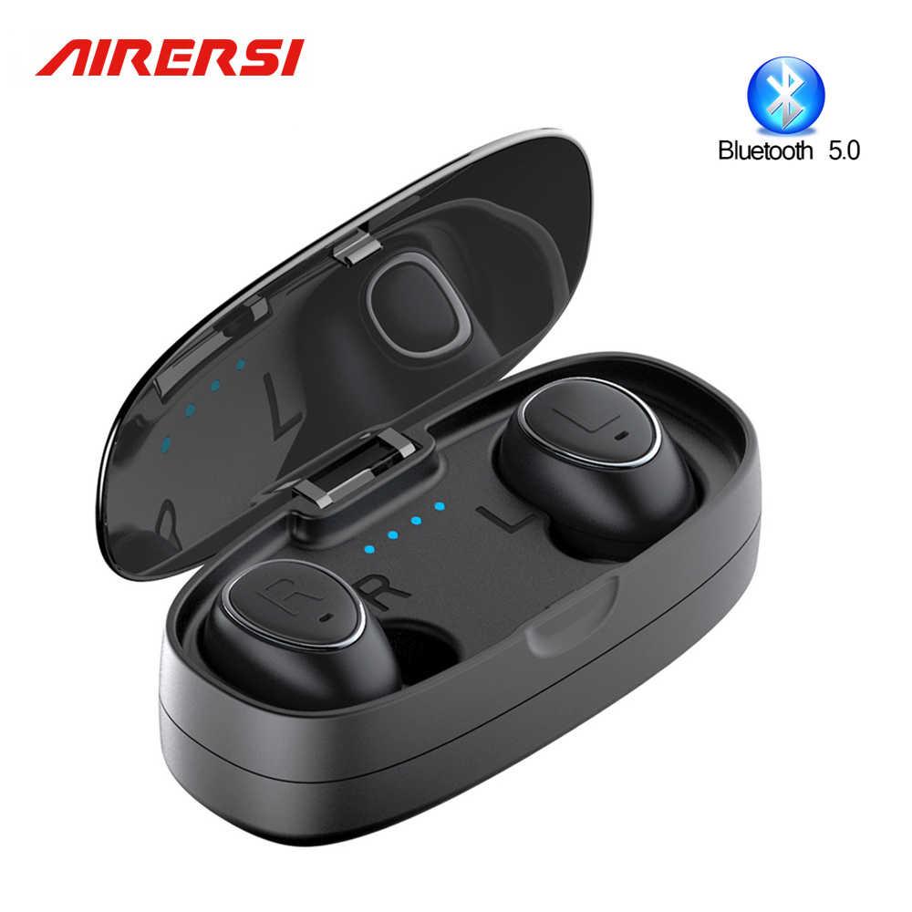 HTK18 TWS auriculares inalámbricos V5.0 Bluetooth auricular estéreo de graves profundos sonido Mini auriculares pk i9 i12 i13 i14 i20 i60 i80 tws airdots